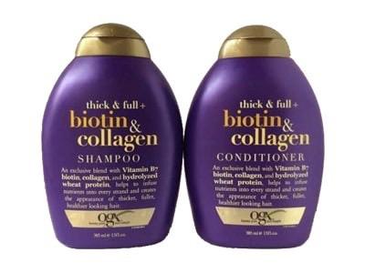 Cặp dầu gội xả tóc Biotine collagen OGX