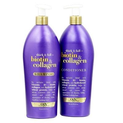 Cặp dầu gội xả Biotine collagen OGX